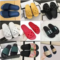 Высочайшее качество усеянные кожаные тапочки женщины мужские сандалии горки лето мода крытый широкий плоский флип флоп слайд слайд-шоу с размером коробки EUR35-45 г1-1