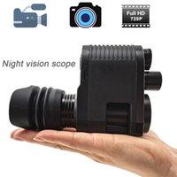 Telescope & Binoculars Megaorei 3 Night Vision RifleScope Optical Sight Spotting Scope HD720P VCR Hunting Camera With Laser IR