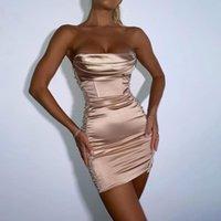 Robe de soirée moulin pour le nouvel an femme satin club club club de clubs sans bandoulière bretelles vestidos femme élégante
