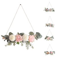 Decorative Objects & Figurines Fake Flower Wall Hanging Wreath Ornaments Garland Pendant Crafts Party Wedding Anadem Decorations Home Decor