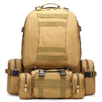 Backpack 50L Tactical Army Molle Men Military Rucksack Hiking Trekking Camping Backpacks Travel Sport Bags Outdoor Climbing Bag