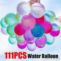 111 unids Multicolor MultiColor Balloon Niños Happy Aire Libre Juguetes Fiesta de cumpleaños Celebre Decoración Niños Pequeños Globos Verano Diversión Agua Aspersión Festival