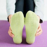 Chaussettes de sport Haute Qualité Yoga respirant Pilates Pilates Ballet Bandage Bandage Pantoufles de danse non glissante avec poignées KK