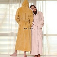 Women's Sleepwear Couples Pajamas Winter Thickened Flannel Long Nightgown Women Coral Velvet Men Robes Sleeve