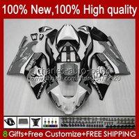 Moto Bodys für Aprilia RSV1000R MILLE RV60 RSV1000 R RR 04-06 BODYWORK 11NO.54 RSV-1000 RSV1000RR 04 05 06 RSV 1000 R 1000R 1000RR 2004 2005 2006 Vermehrungskit Silvery BLK