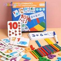 Montessori Oyuncaklar Çocuklar için Matematik Erken Eğitim Sayma Ahşap Sticker Çocuk Numarası Biliş Doğum Günü Hediyesi