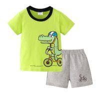 Boys and girls suits Children's T-shirt set. Two piece summer children's suit. Shorts suit
