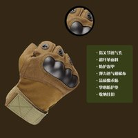 Tactical Half Finger Gloves cycling fitness mountaineering training anti slip wear resistant hard shell knife cutting gloves