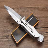 DA136 quick opening folding knife 3cr15 Sharp Blade Aluminum Sheet+Steel Sheet Handle Camping Survival Outdoor EDC Tool Gift