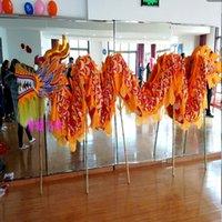 Dragon Dance Mascot Kostymer Storlek 5 # 13m 10 Studenter Spelare Silke Utskrift Tyg Barn Fun Party Carnival Exklusiv Utomhus Spel Sport Halloween Group Aktiviteter