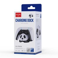 Game Controllers & Joysticks Dual Charger Dock For PS5 5 Lovely Panda Controller Fast Stand Gamepad Joystick Charging Station Ho