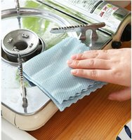 Fish Scale Microfiber Mirrors Glass Cleaning Cloth Reusable Multi-Purpose Towels Wiping Rags Absorbent Kitchen Washing Dish KKB7799