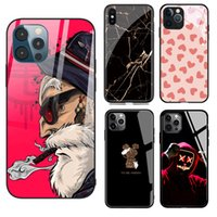 DIY Fashion Design Tempering Glass Phone Cases For Samsung S21 S20 S10 S9 Plus Note20 Ultra IPhone 12 Pro Max 11 Xr 13 Xs X 8 7 6s Customization Scratchproof Cover
