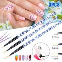 Nail Art Kits 3pcs Pen Dotting Painting Drawing UV Gel Liner Polish Brush Tool Set SK88