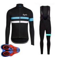Rapha 팀 자전거 남성 긴 소매 사이클링 저지 턱받이 바지는 MTB 자전거 유니폼 자전거 복장 S20101025를 설정합니다