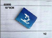 Top High Quality Single Zipper Wallets Cardholder Alfabeto Color estilo Hombres Mujeres High-Fin con Packaging Coin Purse 60895 # Stars 10x10cm