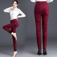 Women's Pants & Capris Winter Leggings Women Plus Size High Waist Stretch Thick Legging Solid Skinny Warm Floral Velvet Pencil Lady Trousers