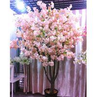 Декоративные цветы венки 160 голов Шелковый вишневый цвет искусственный цветок букет для дома для домашнего декора DIY свадьба