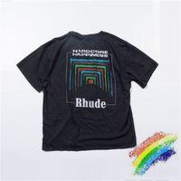 Tecido pesado camiseta homens mulheres 1 alta qualidade t-shirt unisex vintage lavagem tops tee