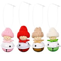Christmas Decorations Christmas Knitted Hat Bell Pendant Xmas Tree Pendants Home New Year Decoration RRD10975