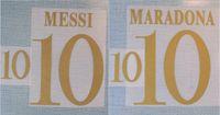 2022 Argentina home gold MESSI MARADONA nameset patch badge