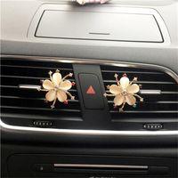 Braçadeira nebulosa da beleza do refrogerador de ar do carro para a tomada do automóvel Starfish Flower Senhora Auto Acessórios, Condicionado