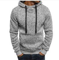 Men's Sweaters Hooded Mens Sweater Autumn Winter 2021 Long Sleeve Solid Fleece Tracksuit Pullovers Casual Men Sportswear Vetement Homme