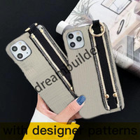 D 2021 New Luxury Fashion iPhone 12 Pro Max 11 Caso 7 8 Plus x XR XS Max Tessuto Shell Shell Drop Shipping