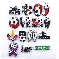 2021 Favorite Football Doek Cartoon Crocks Charms Soft Pvc Sports Shoes Charm Croc Accessories Team 0724
