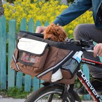 2 em 1 Pet Bicycle Carrier Bolsa De Ombro Cachorrinho Cachorro Cat Pequeno Animal Viagem Bicicleta Assento Para Caminhadas Ciclismo Cesta Acessórios