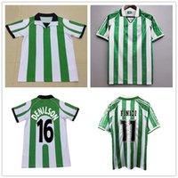 1997 1998 1995 ريال بيتيس ريترو هوم جاركني لكرة القدم جائرات 95 97 98 مباراة Worn Menendez Rios 21 Finidi 11 Green Football Commet