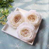 Dekorative Blumen Kränze 10 stücke Elfenbein Künstliche Große Kopf Engel Rosen Seide Gefälschte Für Hochzeitsblumensträume Mittelschmuck Dekor