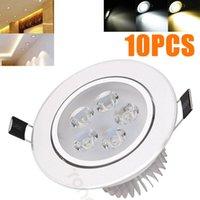 10x 5 Watt LED-Decken Decken Downlight Cool Warme Natürliche Weißtafellampe 220V 110V + Fahrer Daunenstrahler für Home Hotel