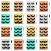 3pairs 5D Mink Eyelashes Makeup Natural Long Lashes Fluffy Soft Wispy Volume Thick Long False Eyelash Extension Make Up Faux Cils