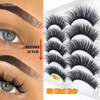 False Eyelashes Tools Natural Long Wispy Flared Fluffy Multilayers Eye Lash Extension Crisscross 6D Faux Mink Hair