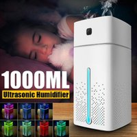 Humidifiers 1000ML USB Portable Air Humidifier Aroma Oil Diffuser Atomizer Capacity Car Home Ultrasonic Humidificador Aromatherapy Purifier