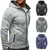 Men's Hoodies & Sweatshirts Men Nice Autumn Zip Up Hoodie Jacket Winter Casual Plain Zipper Tops Sports Coat Fleece Thicken Long Sleeve Pull