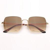 الأزياء النسائية النظارات الشمسية رجل سكوير مكبرة امرأة رجل نظارات الشمس خمر نظارات des lunettes de soleil مع حقيبة جلد البني والتجزئة pacakge