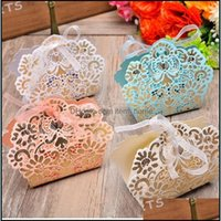 Gift Wrap Event Festive Party Supplies Home & Gardencandy Box Wedding Laser Cut Hollow Chocolates Baby Shower Gifts Bags Favor Candy Boxes D