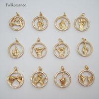 Charms Gesto Colgante para joyería Making Bulk Oro Charm DIY Diseñador Pendientes Collar Pulsera Pulsera Cobre