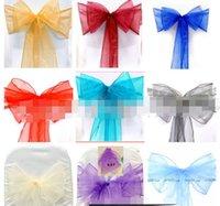 20 colors--25pcs 20cm x 275cm Sheer Organza Sashes Wedding Party Banquet Chair Organza Sash Bow--Lowest