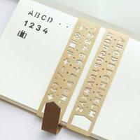 Bookmark Vintage Altın Pirinç Öğretmen Hediye Için Yaratıcı Number / Mektup Hollow Cetvel Kız DIY Çizim Ofis Kırtasiye Malzemeleri