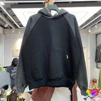 Raglan Hoodies Men Women High Quality Vintage Grey Man Hoodie Overhead Sweatshirts Pullovers