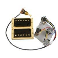 Guitar Pickups Humbucker Pickups Neck And Bridge Pickup 4C Wiring Harness Push-pull single cut Set For