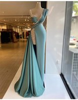 Plus Size Sparkly Mermaid Prom Dresses Sequined Beads Satin Floor Length Formal Evening Dress Pageant Wear Party Gowns Robe de mariée Custom Made