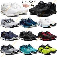 Novos Homens Gel-K27 Mulheres Correndo Tênis Triplo Branco Preto Preto Prata Mako Azul Clássico Vermelho Platinum GS Trainers Sport Sneakers com caixa