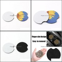 Favor Event Festive Party Supplies & Gardenblank Sublimation Neoprene Drink Holder Coasters For Car Cup Mugs Mat Contrast Home Decor Aessori
