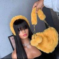 Amarelo Faux Pele Mulheres Bolsas Bonitas Bonito Senhoras De Pelúcia Shaped Ombro Saco Bonito De Embreagem Feminina Bolsa de Amor Bolsas Messenger Bolsa