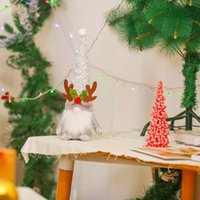 2022 Christmas decorations Red gray plush antlers Rudolph doll Shopping mall window decorations BWB10353