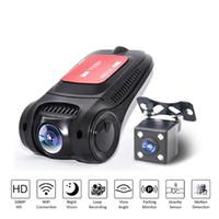 Voiture DVR Wi-Fi 1080P Full HD double lentille arrière Vue arrière Cam auto enregistreur vidéo enregistreur Dash Caméra Détecteur de mouvement DVRS